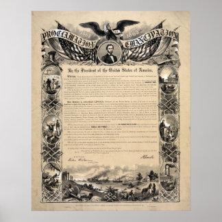 Impresión del documento de la proclamación de The  Póster