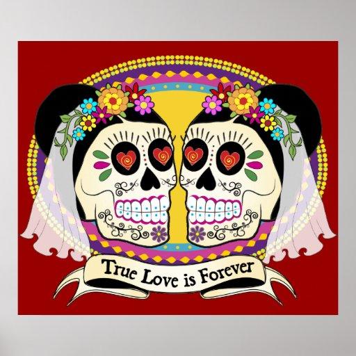Impresión del DOS Novias (2 novias) Póster