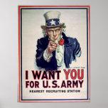 Impresión del ejército 1915 del tío Sam Posters