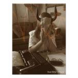 Impresión del escritor de fantasma arte con fotos
