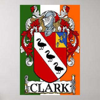 Impresión del escudo de armas de Clark Poster