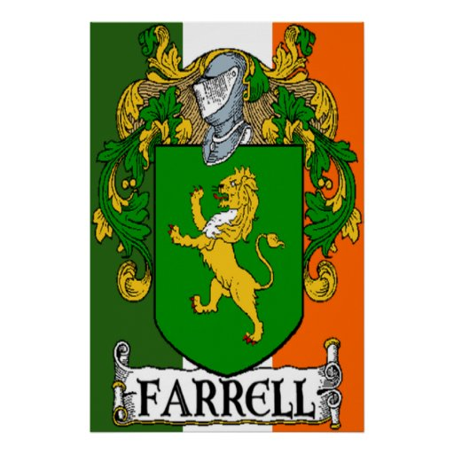 Impresión del escudo de armas de Farrell Póster