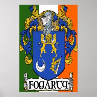 Impresión del escudo de armas de Fogarty Posters