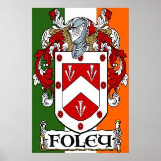 Impresión del escudo de armas de Foley Impresiones