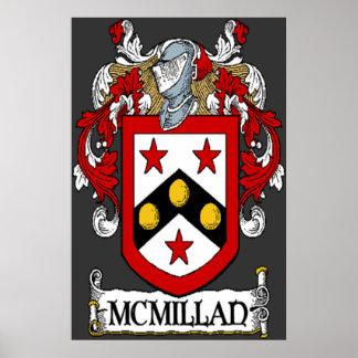 Impresión del escudo de armas de McMillan Poster