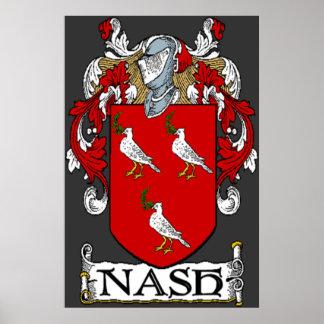 Impresión del escudo de armas de Nash Póster