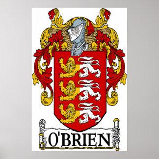 Impresión del escudo de armas de O'Brien Póster