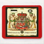 Impresión del escudo de armas del vintage del ~ de tapete de ratones