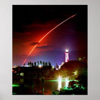 Impresión del esfuerzo del transbordador espacial posters