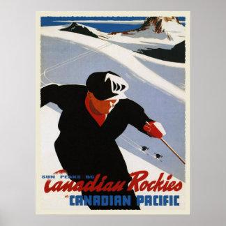 Impresión del esquí de Rockies del canadiense del  Impresiones