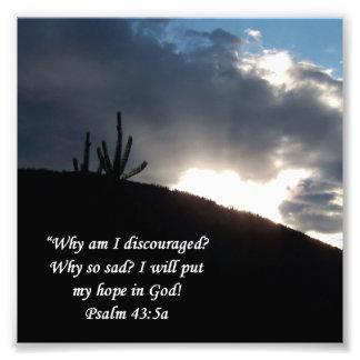 Impresión del estímulo del 43:5 del salmo de la es fotografía