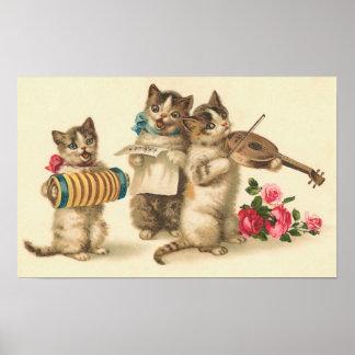 Impresión del estribillo del gatito posters