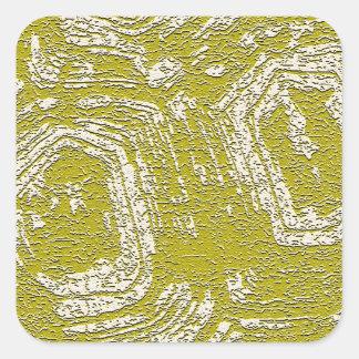 Impresión del extracto de la concha de la mostaza pegatina cuadrada