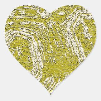 Impresión del extracto de la concha de la mostaza pegatina en forma de corazón