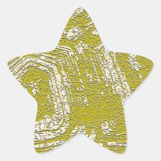 Impresión del extracto de la concha de la mostaza pegatina en forma de estrella