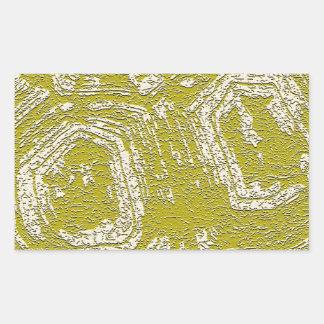 Impresión del extracto de la concha de la mostaza pegatina rectangular