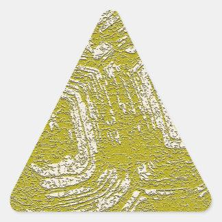 Impresión del extracto de la concha de la mostaza pegatina triangular