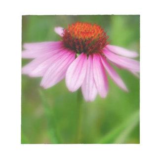 Impresión del extracto de la flor del cono libreta para notas
