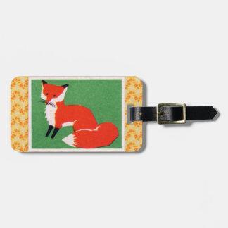Impresión del Fox rojo del vintage Etiquetas Maletas