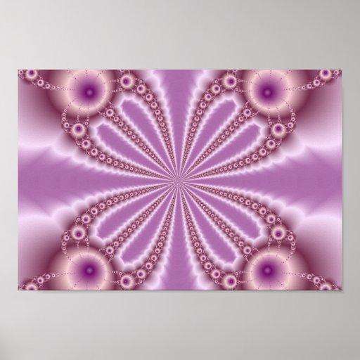 Impresión del fractal de las perlas del rosa impresiones