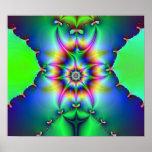 Impresión del fractal del voltaje poster