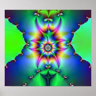 Impresión del fractal del voltaje póster