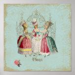 Impresión del francés de las señoras París de Mari Posters
