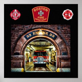 Impresión del fuego Engine-33 de Boston