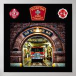 Impresión del fuego Engine-33 de Boston Poster