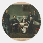[Impresión del gabinete de Lincoln basada en pai Etiquetas Redondas