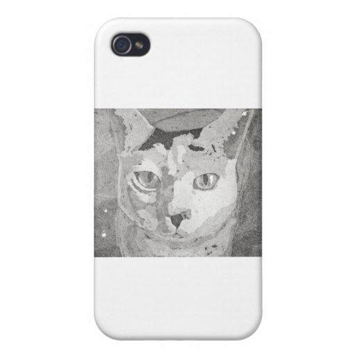 Impresión del gato iPhone 4/4S carcasa