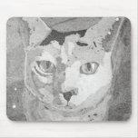 Impresión del gato tapetes de ratón