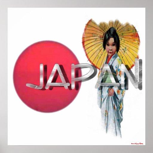 Impresión del geisha póster