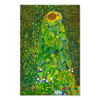 Impresión del girasol de Gustavo Klimt Fotografias