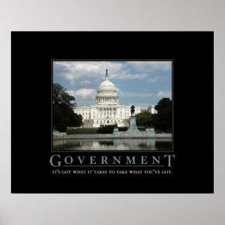 Impresión del gobierno póster