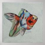 Impresión del Goldfish del calicó Posters