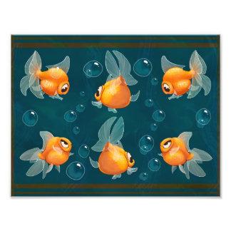 Impresión del Goldfish Fotografías