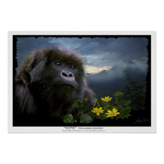 Impresión del gorila de montaña de la ESPERANZA Impresiones