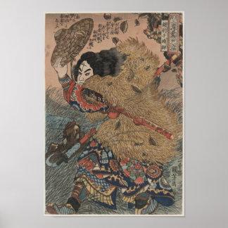 Impresión del grabar en madera de Utagawa Kuniyosh Posters