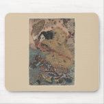 Impresión del grabar en madera de Utagawa Kuniyosh Alfombrilla De Raton