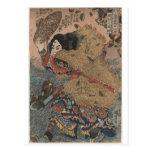Impresión del grabar en madera de Utagawa Kuniyosh Tarjetas Postales