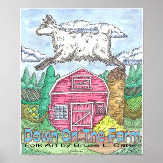 Impresión del granero de las ovejas posters