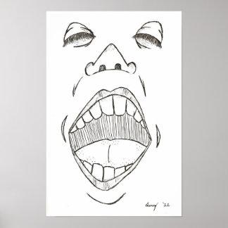 """Impresión del """"grito"""" póster"""
