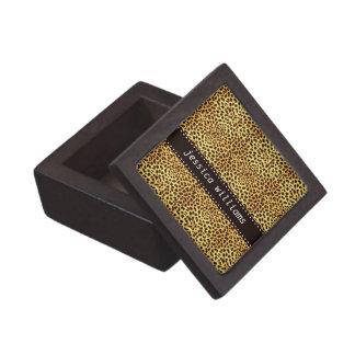 Impresión del guepardo cajas de recuerdo de calidad