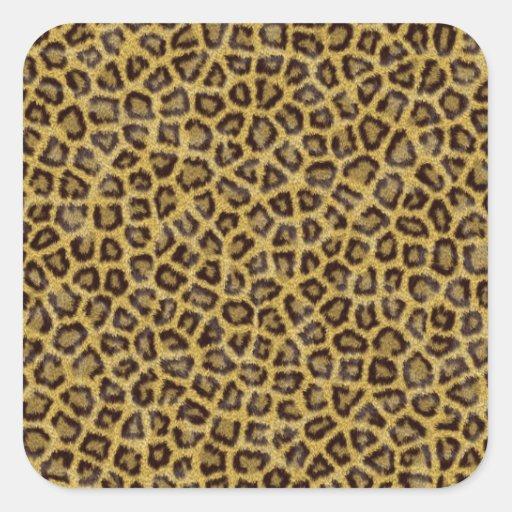 Impresión del guepardo calcomanía cuadradase