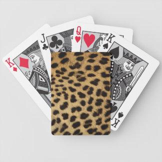 Impresión del guepardo cartas de juego