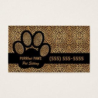 Impresión del guepardo con el canguro de encargo tarjeta de negocios