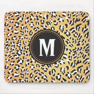 Impresión del guepardo con monograma mousepad