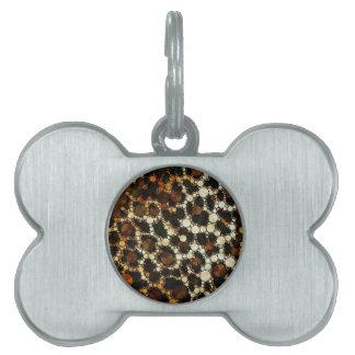 Impresión del guepardo de Bling Placa De Mascota