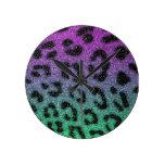 Impresión del guepardo de la pendiente del brillo  relojes